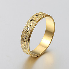 European and American fashion simple matte gold ring engraved series 9 Band Rings Wedding / Party / Daily / Casual 1pc