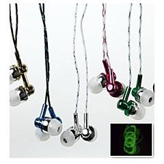 kvällsbelysning mode 3.5 mm hörlurs iphone 6s / 6 plus / 4 / 5s och andra mobiltelefoner (blandade färger)