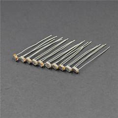 фоторезистор 5516/5 мм Фотоэлектрический датчик - серебро + кофе (10 шт)