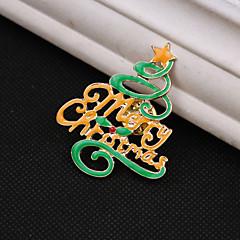 hyvää joulua puu rintakoru
