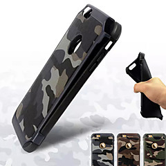 For iPhone 7 etui iPhone 7 Plus etui iPhone 6 etui iPhone 6 Plus etui iPhone 5 etui Stødsikker Etui Bagcover Etui Camouflage Hårdt PC for