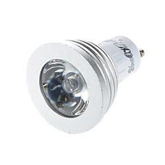 3W GU10 Spot LED G50 1 LED Haute Puissance 260 lm RGB Commandée à Distance / Décorative AC 85-265 V 1 pièce