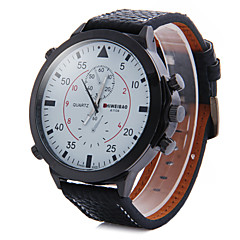 Men's Fashion Big Dial Leather Strap Quartz Watch Wrist Watch Cool Watch Unique Watch