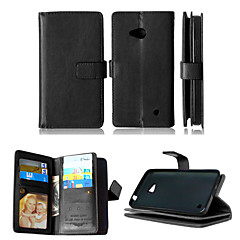 pu bőr + TPU hátlap pénztárca sok kártyabirtokosok + készpénzt slot + képkeret mágneses telefont ügy Nokia Lumia 640