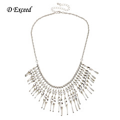 D exceed Latest Turkish Jewelry for Women Retro Boho Chunky Choker Necklaces Antique Silver Plated Statement Necklace