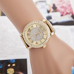 Herre Dame Par Modeur Simuleret Diamant Ur Quartz Imiteret Diamant Legering Bånd Guld Guld