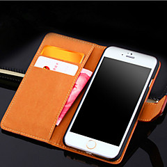 Voor iPhone 6 hoesje / iPhone 6 Plus hoesje Kaarthouder / Portemonnee / met standaard / Flip hoesje Volledige behuizing hoesje Effen kleur