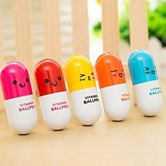 (20 pcs) píldoras de la pluma de la manera del bolígrafo retráctil de alta calidad del juguete del estilo