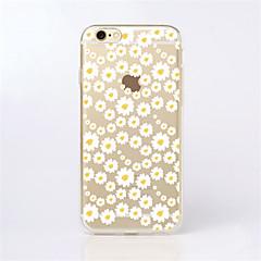 para o iphone 7 maycari®sea de flores brancas TPU volta caso transparente para iphone 6s 6 mais