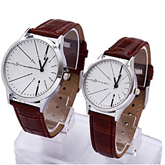 Couple's Korean Creative Round Dial PU Band Quartz Analog Fasion Wrist Watch(Assorted Color) Cool Watches Unique Watches