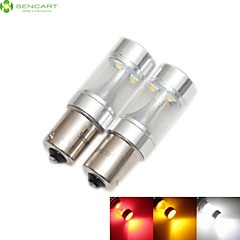 2 x 1156 P21W Ba15s 30W 6xCREE White / Red / Yellow / Cold White 2100LM 6500K for Car Brake Light Reverse Lamp 12-24V