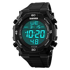 Da uomo Orologio da polso Digitale LCD / Resistente all'acqua / allarme / Energia solare / Orologio sportivo PU Banda Nero Marca- SKMEI