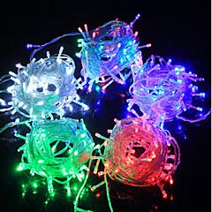 LED Streng Kulørte Lamper Lysdiode F5 100LED Vandtæt / IP65 3 Farve Lys Ac180-240V 10M / Pakke