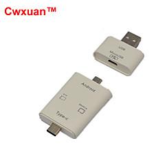 cwxuan ™ 3 -에서 - 1 USB 3.1 타입 C / USB 2.0 / 마이크로의 USB OTG 카드 리더