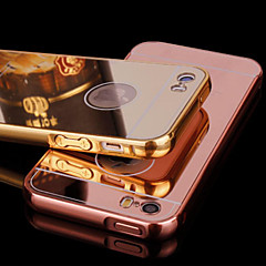 armação de metal e espelho chapeamento caso de telefone celular backplane para iPhone 5 / 5s (cores sortidas)