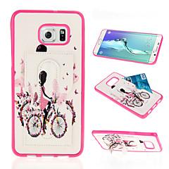 자전거 소녀 은하 s6edge을위한 그린 PU 전화 케이스 플러스 / s6edge / S6 / S5 / S4 / S3