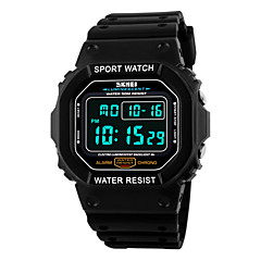 Herren Armbanduhr digital LCD / Kalender / Chronograph / Wasserdicht / Alarm / Sportuhr PU Band Schwarz Marke