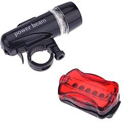 Eclairage de Velo , Set d'éclairage avant et arrière - 5 Mode 200LM Lumens Facile à transporter AAA x 2 Batterie