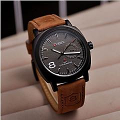 Herren Armbanduhr Quartz Leder Band Marke
