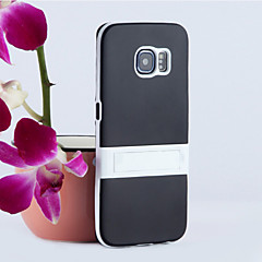 Solid Color Matte PC Hard Bracket Stand Hybrid Cover Case for Samsung Galaxy S3/S4/S5/S6/S6 Edge/S6 Edge Plus
