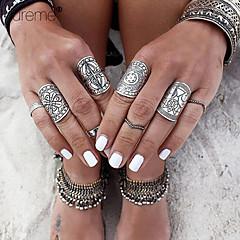 Damskie Duże pierścionki Bohemia Style Rzeźniony biżuteria kostiumowa Stop Flower Shape Biżuteria Na Impreza Codzienny Casual