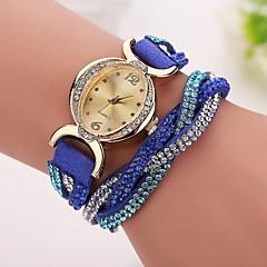 Damskie Modny Zegarek na bransoletce Sztuczny Diamant Zegarek Sportowy Kwarcowy Skóra Pasmo Z WisorkamiCzarny Biały Niebieski Czerwony