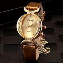 Dames Modieus horloge Kwarts PU Band Glitter Zwart / Wit / Rood / Goud / Paars Merk-