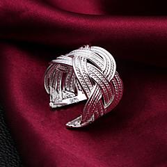 Női Karikagyűrűk Állítható jelmez ékszerek Ezüst Ékszerek Kompatibilitás Esküvő Parti Napi Hétköznapi