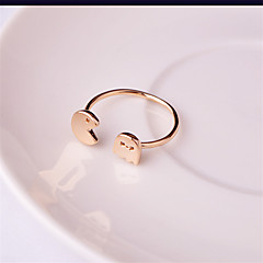 Ring Wedding / Party / Daily / Casual Jewelry Copper / Silver Plated / Rose Gold Plated Women / Men Band Rings 1pc,AdjustableGold /