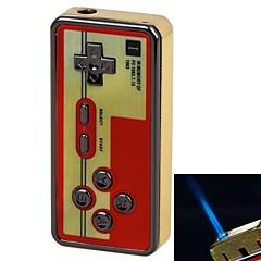 módní kovový materiál odolný proti větru herní design rukojeti žlutý plamen nafukovací jediný plamen zapalovač