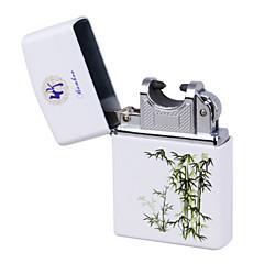 파랑&백자 호 펄스 충전 USB 가벼운 울트라 얇은 방풍 전자 담배 라이터 대나무&화이트