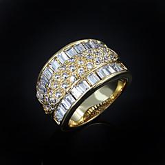 Damskie Obrączki biżuteria kostiumowa Cyrkon Pozłacane Biżuteria Na Ślub Impreza Codzienny Casual