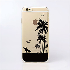 For iPhone 7 MAYCARI®Traveling at Seaside Transparent TPU Back Case for iPhone 6s 6 Plus