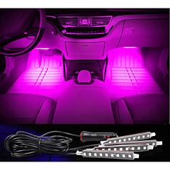 carga do carro decorativo lâmpada atmosfera levou interior decoração chão luz com mini-dimmer levou 4pcs de cor única