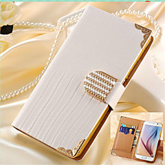 for Samsung Galaxy S7 Luxury Wallet Card Crystal Bling PU Leather Case Rhinestone Phone Cover Case For Samsung Galaxy S3/S4/S5/S6/S6 Edge/S7 edge