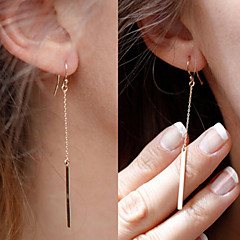Drop Earrings Elegant Fashion Simple Style Gold Plated Line Silver Golden Jewelry For Party Daily Casual 1set
