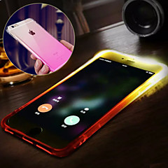 Mert iPhone 6 tok / iPhone 6 Plus tok Vízálló / LED zseblámpa Case Hátlap Case Színátmenet Puha TPU iPhone 6s Plus/6 Plus / iPhone 6s/6