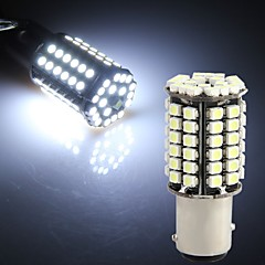 2 x 1157 BA15D 80 LED 3528 SMD White Car Tail Parking Stop Light Bulb Lamp