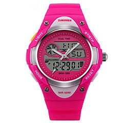 Παιδικά Αθλητικό Ρολόι LED Θερμόμετρα Ημερολόγιο Χρονογράφος Ανθεκτικό στο Νερό Διπλές Ζώνες Ώρας συναγερμού Αθλητικό Ρολόι Ψηφιακό PU