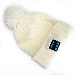 따뜻한 비니 모자 무선 블루투스 헤드셋 음악 캡은 아이폰 SUMSUNG 휴대폰 용 스피커 마이크와 이어폰
