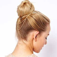 European and American Style Vane Leaves Tassel Chain Hair Claws