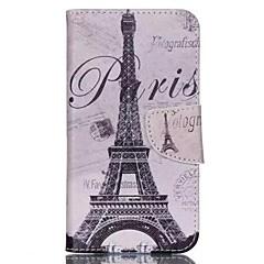 Pour Coque Wiko Avec Support Clapet Motif Coque Coque Intégrale Coque Tour Eiffel Dur Cuir PU pour Wiko