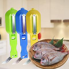 para cobrir e dispositivo de escala com cozinha de aço inoxidável faca faca escalas raspagem (cor aleatória)