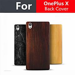 OnePlus x cubierta trasera 100% del patrón de jade madera de bambú nuevo estilo de protección para 5.0inch uno más x teléfono móvil