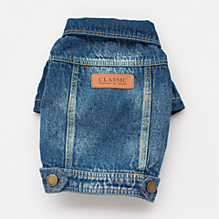 Dog Coat / Denim Jacket/Jeans Jacket Blue Spring/Fall Jeans Cowboy