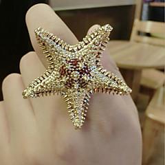 Кольца Мода Для вечеринок Бижутерия Сплав Женский Массивные кольца 1шт,Стандартный размер Золотой
