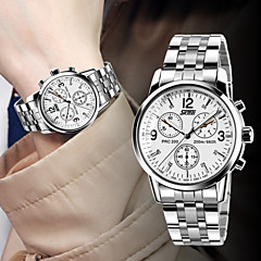 Hot Classic Men's Fashion Business Waterproof Steel Table Wrist Watch Cool Watch Unique Watch
