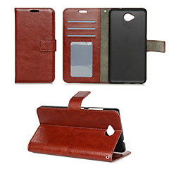 Mert Nokia tok Pénztárca / Kártyatartó / Állvánnyal Case Teljes védelem Case Egyszínű Kemény Műbőr Nokia Nokia Lumia 850 / Other