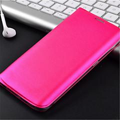 eredeti bőr smart auto alvás kártyahely teljes test esetében Samsung Galaxy S6 él (vegyes színek)