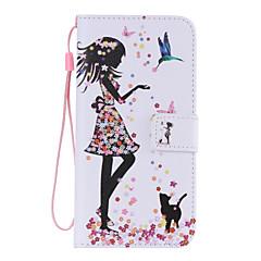For Samsung Galaxy etui Pung Kortholder Med stativ Flip Etui Heldækkende Etui Sexet kvinde Kunstlæder for SamsungS6 edge plus S6 edge S6